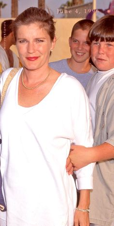 June 4, 1996 Kate Mulgrew & sons UPN Party