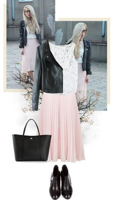 """Black and Soft Pink"" by yellowxoxo on Polyvore"