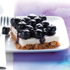Top 10 Light Dessert Recipes from Taste of Home, including Blueberry Walnut Bars Recipe