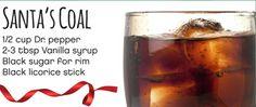 1/2 cup Dr. Pepper 2-3 tbsp. vanilla syrup black sugar for rim black licorice stick   #Cardis #PortsmouthPublickHouse #TheRhodeShow #WPRI12 #drinks #mocktails #winter #holidays