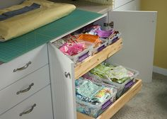 awesome sewing room ideas  http://alittlebitbiased.blogspot.com