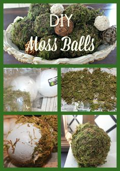 An easy DIY project to add some spring decor to your home - dried moss balls for tucking into a bowl, topping some heavy candleholders or placed on a tray.