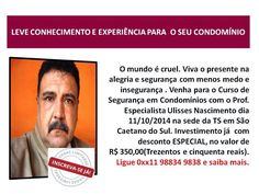 PRODUTOS E SERVIÇOS DA BRADO ASSOCIADOS: CURSO PRESENCIAL DE SEGURANÇA EM CONDOMÍNIOS NA TS...