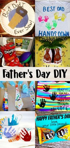 Fathers Day Gifts From Kids - Easy Fathers Day Crafts For Kids - Father's Day DIY Ideas- Easy handmade gifts and crafts for kids to make and gives as Fathers Day gifts for Dad Kids Fathers Day Crafts, Fathers Day Art, Crafts For Kids To Make, Kids Diy, Homemade Fathers Day Gifts, Diy Gifts For Dad, Diy Gifts For Fathers Day, Kids Gifts, Diy Father's Day Gifts Easy
