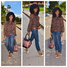 Today's Post: A casual leopard print look!