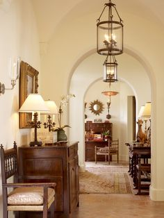 Mediterranean Entry and Hall in US by Suzanne Tucker/Tucker & Marks
