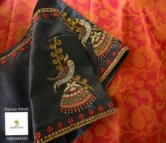 Blouse Back Neck Designs, Simple Blouse Designs, Stylish Blouse Design, Fancy Blouse Designs, Kurta Designs, Wedding Saree Blouse Designs, Maggam Work Designs, Designer Blouse Patterns, Hand Embroidery Designs