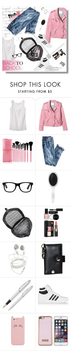 """""""Back to school: Fall jacket"""" by ninasavaneli ❤ liked on Polyvore featuring WALL, Rebecca Taylor, J.Crew, Sephora Collection, Vince Camuto, Bobbi Brown Cosmetics, Buxton, Fountain, adidas Originals and Kate Spade"""