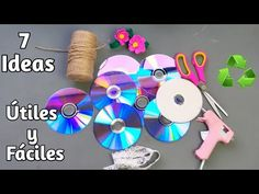 7 Ideias Lindas Com CD's / Ideas Incríveis De Artesanato com CD's. - YouTube Tabletop Water Fountain, Diy Fountain, Cd Crafts, Garden Crafts, Diy Projects For Beginners, Easy Diy Projects, Woolen Flower, Old Cds, Reuse Recycle