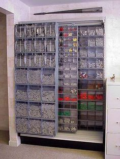 Now this is some serious Lego storage! Brad would love this