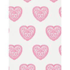 Baby Girl - bedroom wallpaper. Buy Harlequin Sweet Hearts Wallpaper, 110538 Online at johnlewis.com