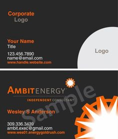 Ambit energy business cards 351000 full color doublesided free ambit business cards 351000 full color double sided free shipping cheaphphosting Image collections