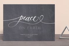 """""""peace on earth marble"""" - Foil-pressed Holiday Cards in Ash by Phrosne Ras. Christmas 2019, Christmas Holidays, Holiday Cards, Christmas Cards, Peace On Earth, Chalkboard, Ash, Marble, Stamp"""