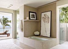 elegant bathroom   Cindy Crawford's house in Los Cabos, Mexico