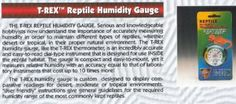 T-Rex Reptile Humidity Gauge 72 Made by T-Rex Inc.  #T-Rex #PetProducts