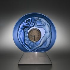 Clock Surround by Rene Lalique, designed in 1926. | Corning Museum of Glass #glass #Modern glass #clock