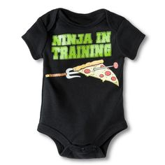 Newborn Boys' Teenage Mutant Ninja Turtles Bodysuit - Black