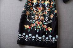 2015 Occident hotsale women Modern Vintage Printed perfect makings trendy dress
