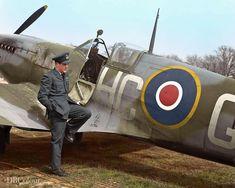 Aircraft Photos, Ww2 Aircraft, Fighter Aircraft, Military Aircraft, Fighter Jets, Fighter Pilot, Navy Air Force, Royal Air Force, The Spitfires