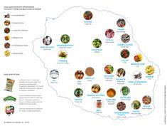 Carte des produits du terroir emblématiques de La Réunion