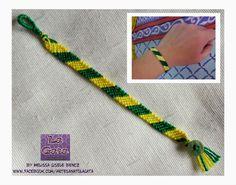 Pulseira da Amizade Brasil / Friendship Bracelet Brasil - by LA GATA - Melissa Gisele Bencz