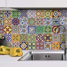Talavera Tile Decals Kitchen Backsplash.