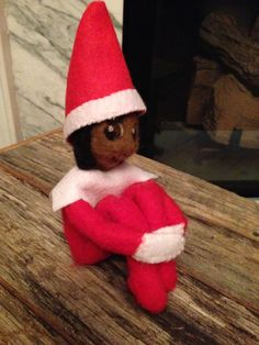 Introducing Leila's Elf on the Shelf, Sanjaya! We wanted an elf just as unique as we are, so Sanjaya was handcrafted using needlefelting and my imagination. He's a real scout Elf, just a bit different. He arrived on November 29, 2014 and spent time at our home and at Leila's apartment in Florida. His rules are a bit different, he gets to stay with Leila in Florida through New Year's, then he'll return to the North Pole until next year. I would love to have an elf too. Hmmm...maybe next…