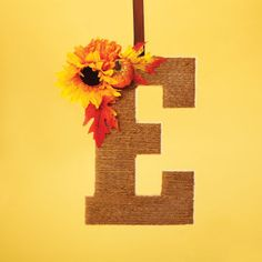 Letter Door Hanger - maybe create removable greenery for each season...