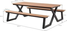 Table And Chairs, Dining Table, Welded Furniture, Sectional Furniture, Modern Bench, Restaurant Chairs, Easy Woodworking Projects, Garden Table, Picnic Table