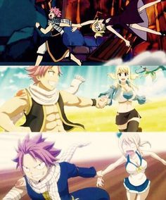 NaLu Natsu always seems to be dragging Lucy around.