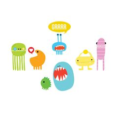 Monster Set - Tattly temporary tattoos $15