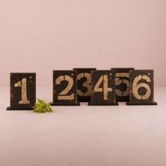 6 segnatavolo numerati stile country - numeri da 1 a 6