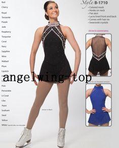 Details about  /Ice Skating Dress Women Black Figure Skating Dresses Custom Spandex
