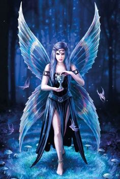 Anne Stokes Angel Greeting Card - Betovering