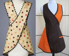 Dit item is niet beschikbaar Sewing Aprons, Dress Sewing Patterns, Sewing Projects For Kids, Sewing Crafts, Beauty Salon Uniform Ideas, Sewing Mitered Corners, Apron Pattern Free, Teacher Apron, Japanese Apron