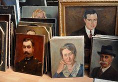 Portraits in a Paris flea market.