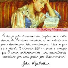 """Leia o artigo completo: """"Uma Receita para o Discernimento"""" por John MacArthur  http://www.mulherespiedosas.com.br/uma-receita-para-o-discernimento-por-john-macarthur/"""