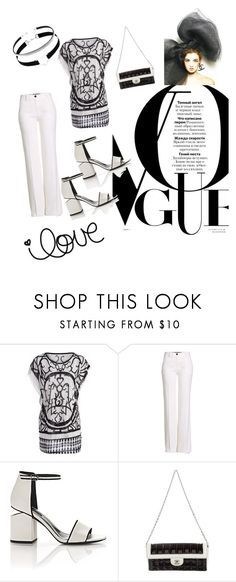 """""""Untitled #299"""" by ak07 ❤ liked on Polyvore featuring Roberto Cavalli, Alexander Wang and Chanel"""