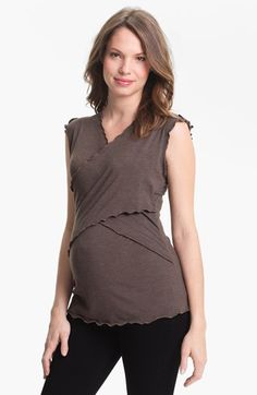 Japanese Weekend Maternity Cross Front Nursing Top available at #Nordstrom