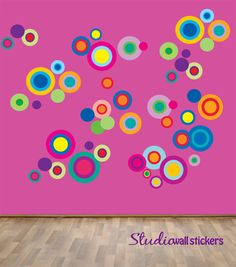 Reusable Circles Wall Decal  Childrens by StudioWallStickers, $72.00