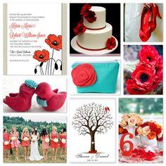 Pantone Poppy Red Wedding Inspiration | Designed By M.E. Stationery {The Blog}