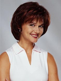 finding hair styes and cuts for older women with thinning hair   Short Hair Style, older womens hair style, redish brunette picture