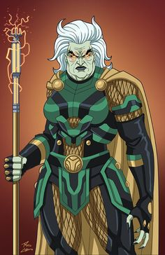 Granny Goodness (Earth-27) commission by phil-cho on DeviantArt