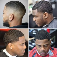 40 Best Waves Haircuts For Black Men Guide) Temp Fade Haircut, Short Fade Haircut, Waves Haircut, Taper Fade Haircut, Very Short Haircuts, Black Men Haircuts, Black Men Hairstyles, Medium Hairstyles, Braided Hairstyles