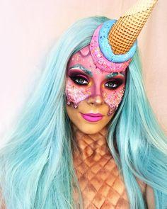 Crazy Makeup, Pretty Makeup, Makeup Looks, Halloween Make Up, Halloween Costumes, Halloween Face Makeup, Fx Makeup, Hair Makeup, Emoji Challenge