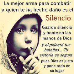 Eso es exactamente lo que voy hacer....silencio....y dejar que Dios se encargue ❤