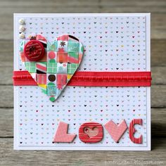 PaperVine: Woven Ribbon Valentine's Card