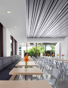 Modern Cafeteria by Jennifer Gustafson on http://roomreveal.com