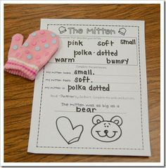 Mitten Adjectives from First Grade Parade ~ So cute! Kindergarten Writing, Kids Writing, Teaching Reading, Teaching Ideas, Writing Ideas, Learning, Teaching Resources, Free Activities, Classroom Activities
