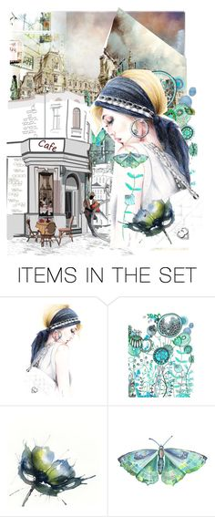 """Washed Out Towns"" by dat-one-village-idot ❤ liked on Polyvore featuring art and illustrations"